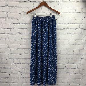 Chiffon by American Apparel Ladies Blue Maxi Skirt